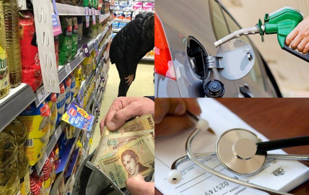 Combustibles, prepagas y alimentos, los aumentos que se vienen en diciembre