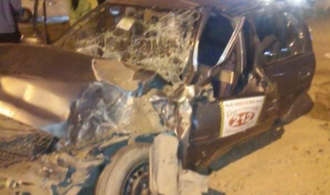 Murió el taxista que chocó contra un colectivo