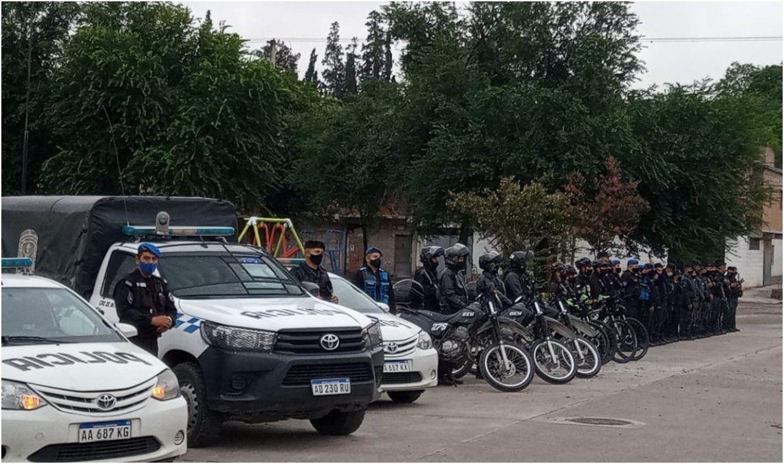 Se desplegó un fuerte operativo policial en Punta Diamante