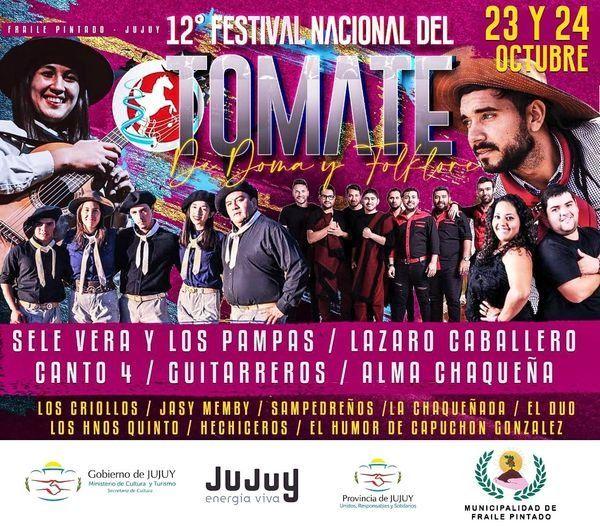 Fraile Pintado se prepara para el Festival Nacional del Tomate, Doma y Folclore