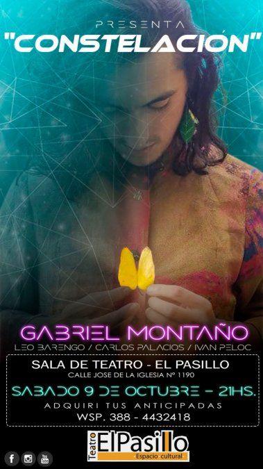 Gabriel Montaño presenta Constelación en el Teatro El Pasillo