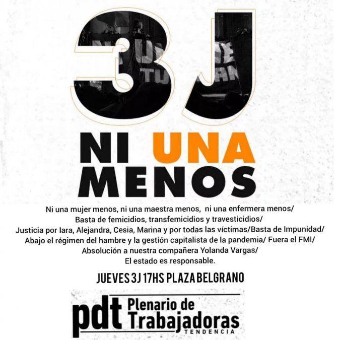 3 de junio: Jujuy adhiere a la marcha #NiUnaMenos