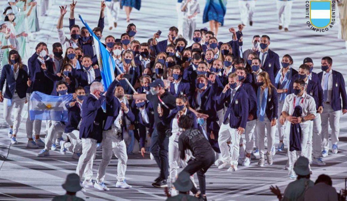 El descontrolado desfile de Argentina en los Juegos Olímpicos de Tokio 2020
