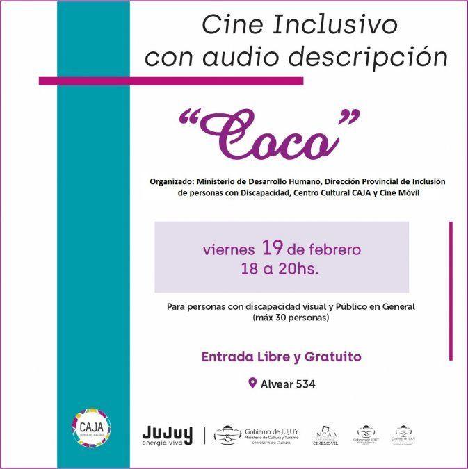 Invitan a función de cine inclusivo con audiodescripción