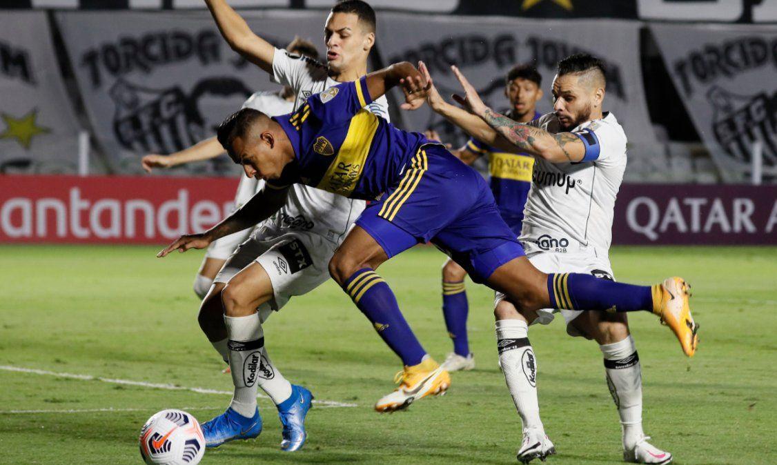 Boca cayó con Santos y complicó su clasificación