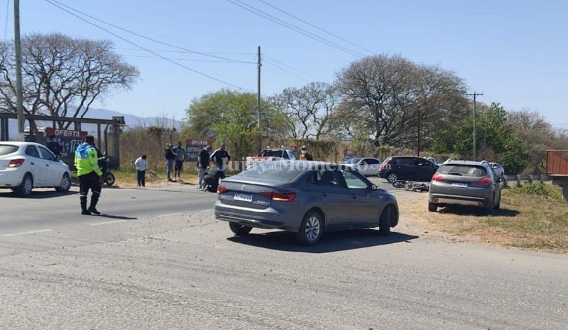 Motociclista salió despedido tras chocar con una camioneta