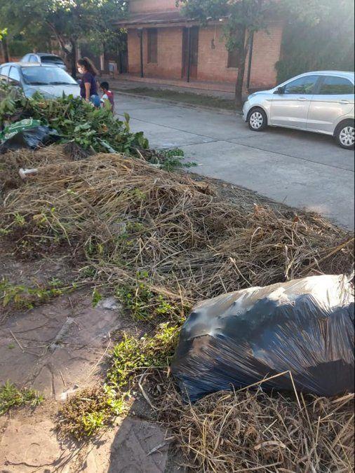 Niños tienen instalado un basural en la puerta de la escuela