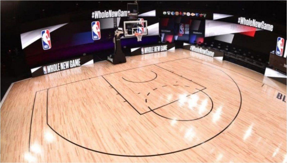 La NBA dio a conocer el campo de juego de la burbuja