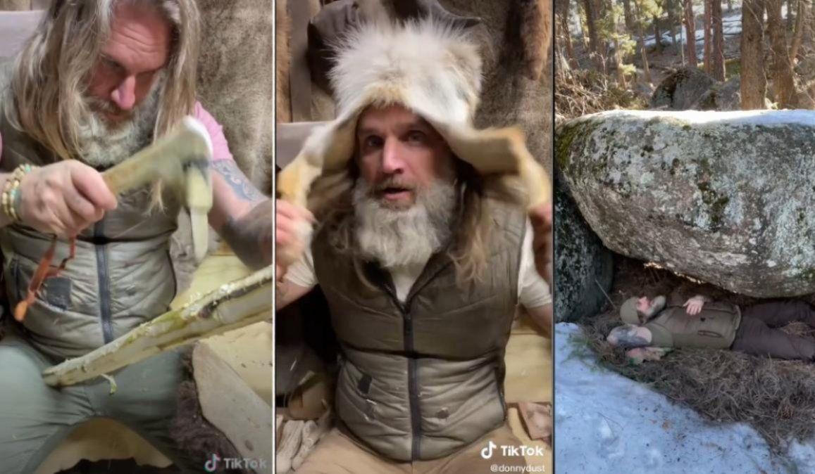 Un cavernícola profesional conquista TikTok con sorprendentes trucos de supervivencia