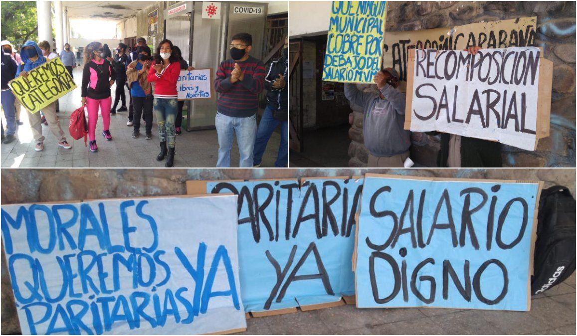 Se profundiza el reclamo del SEOM en el municipio de Rivarola