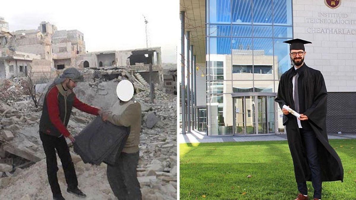 Hace 8 años huyó de la guerra en Siria, hoy se gradúa como ingeniero en Irlanda