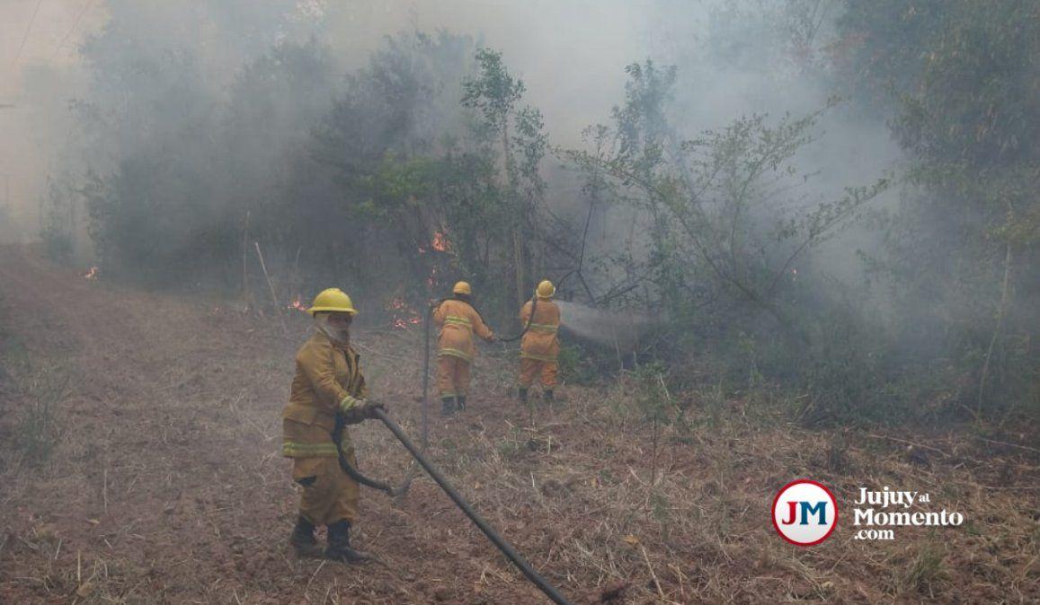 La nubosidad no permite dimensionar el área quemada en las Yungas