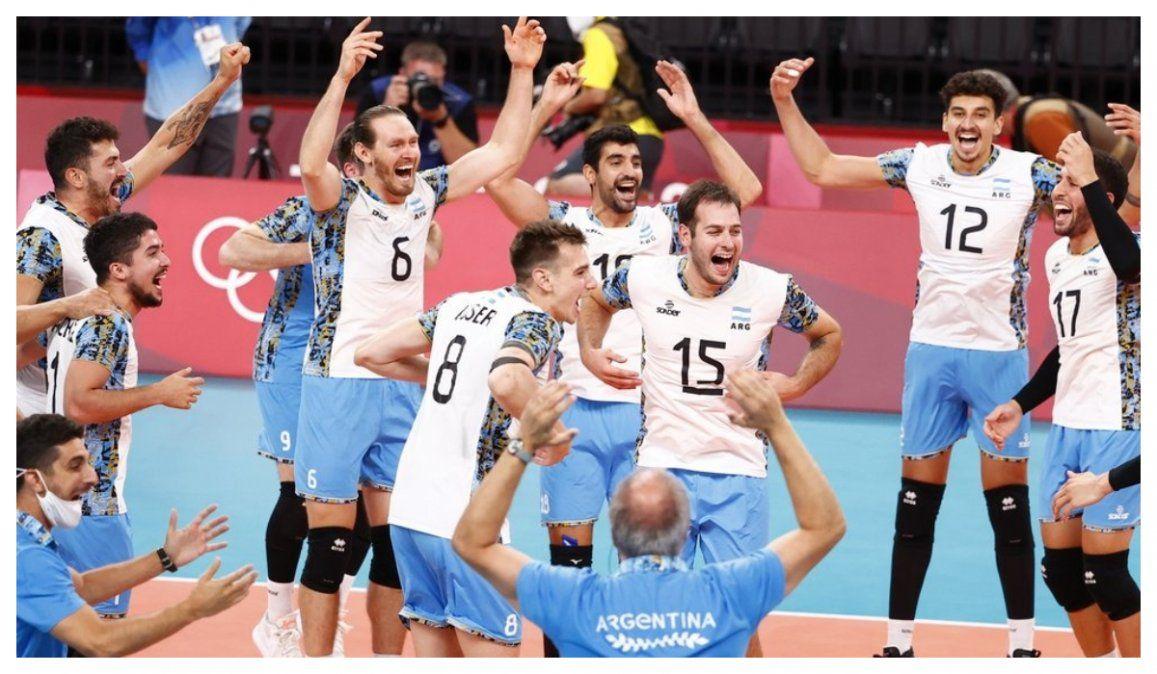 Argentina venció a Italia y jugará las semifinales de los Juegos, después de 21 años