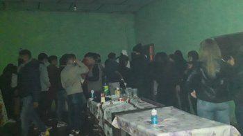 Estaban ATR en una fiesta clandestina y terminaron todos arrestados