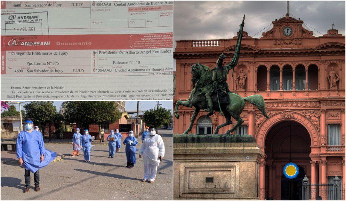 Enfermeros de Jujuy y un nuevo pedido de intervención a Alberto Fernández