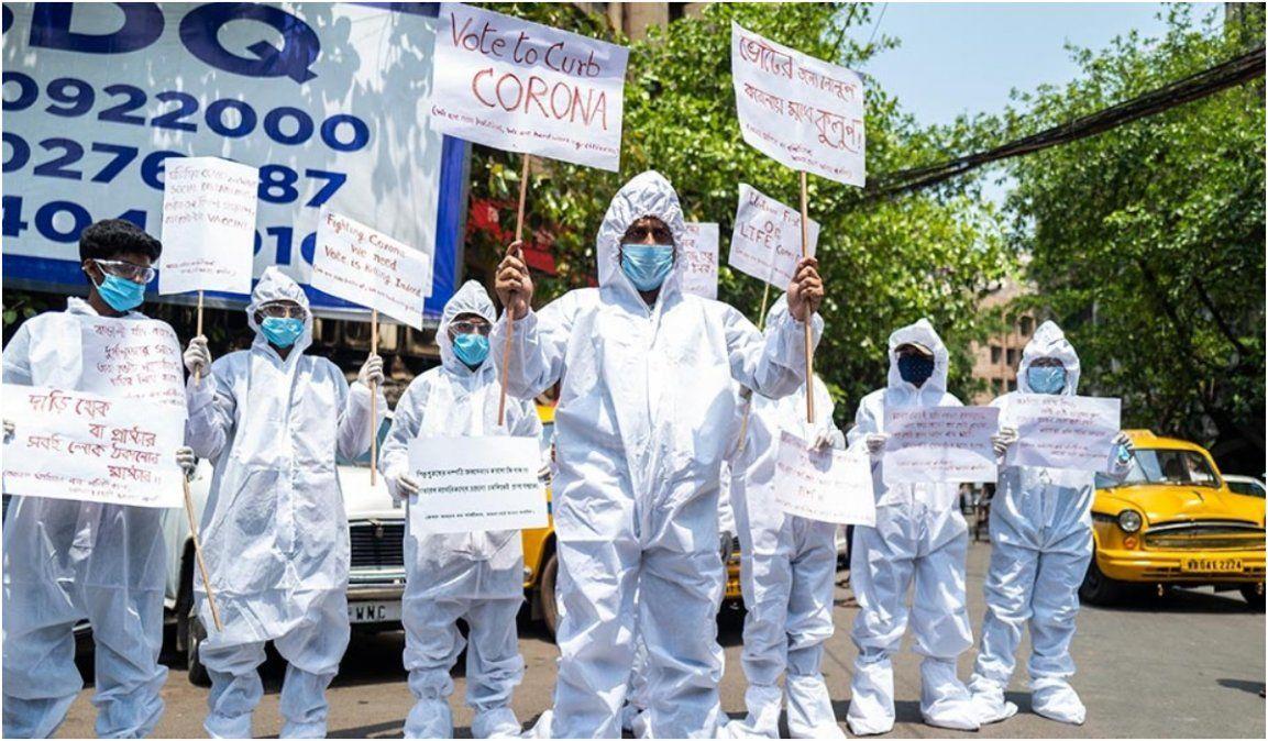 India registró récord de casos: Más de 115.700 contagios en un día
