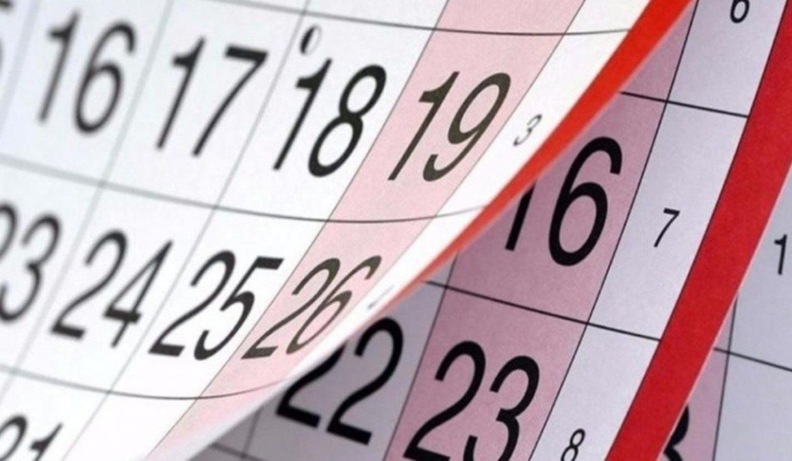 Estos son los feriados que se vienen antes de fin de año