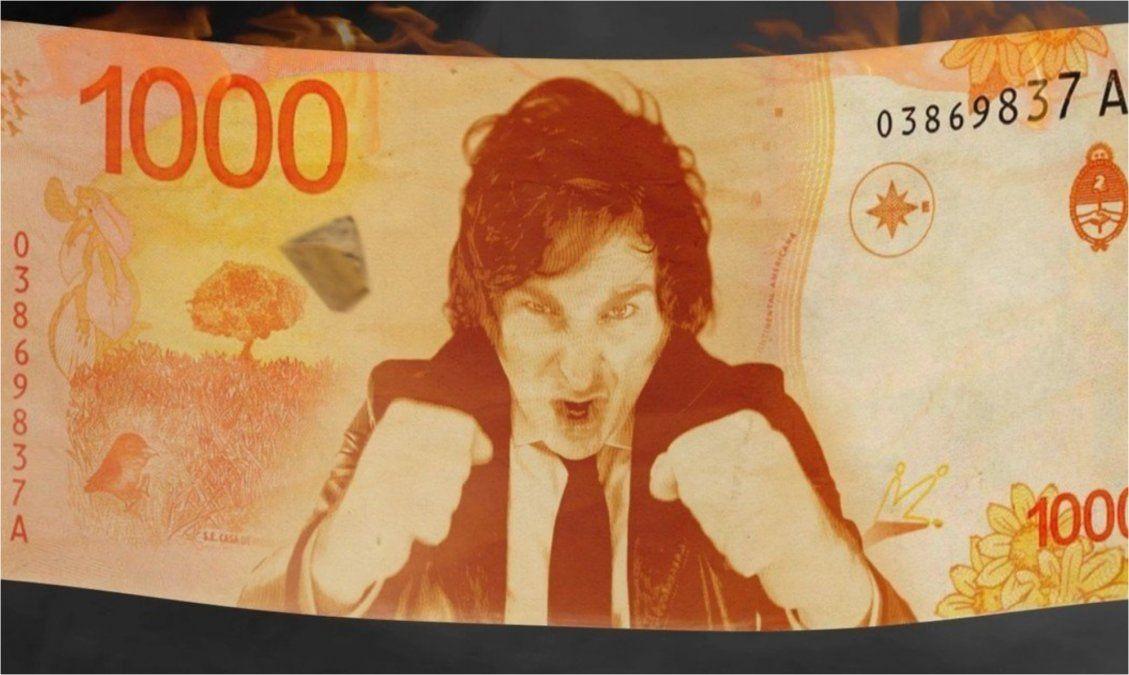 Se vendió el cripto video de Milei incendiando el Banco Central