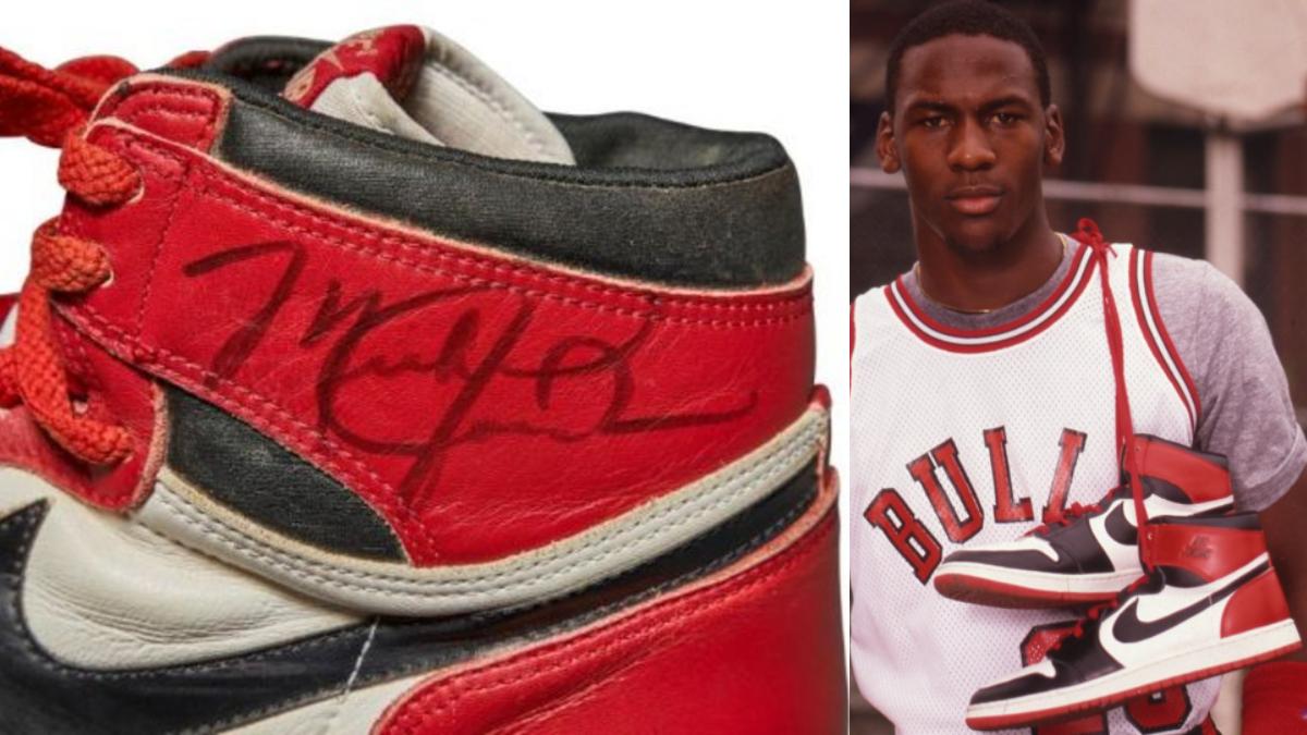 Lavandería a monedas humedad libro de texto  Subastan las primeras zapatillas de una marca reconocida de Michael Jordan