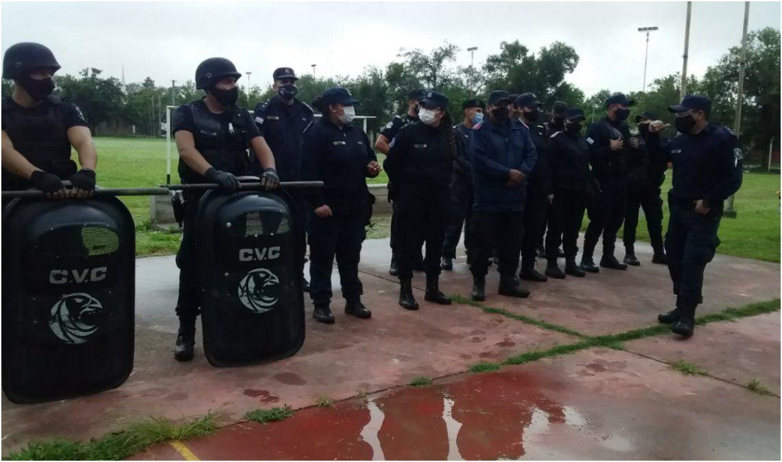 Se montó un fuerte operativo policial con más de cien efectivos en la zona sur