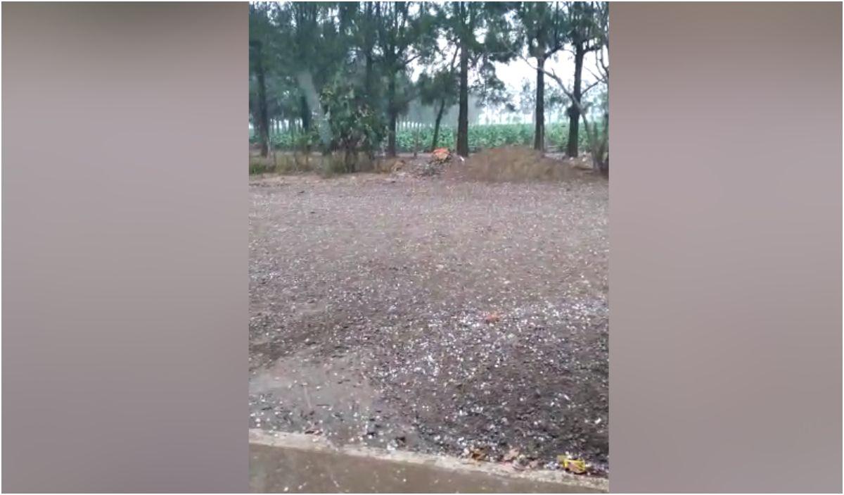 Lluvia y granizo en localidades del interior