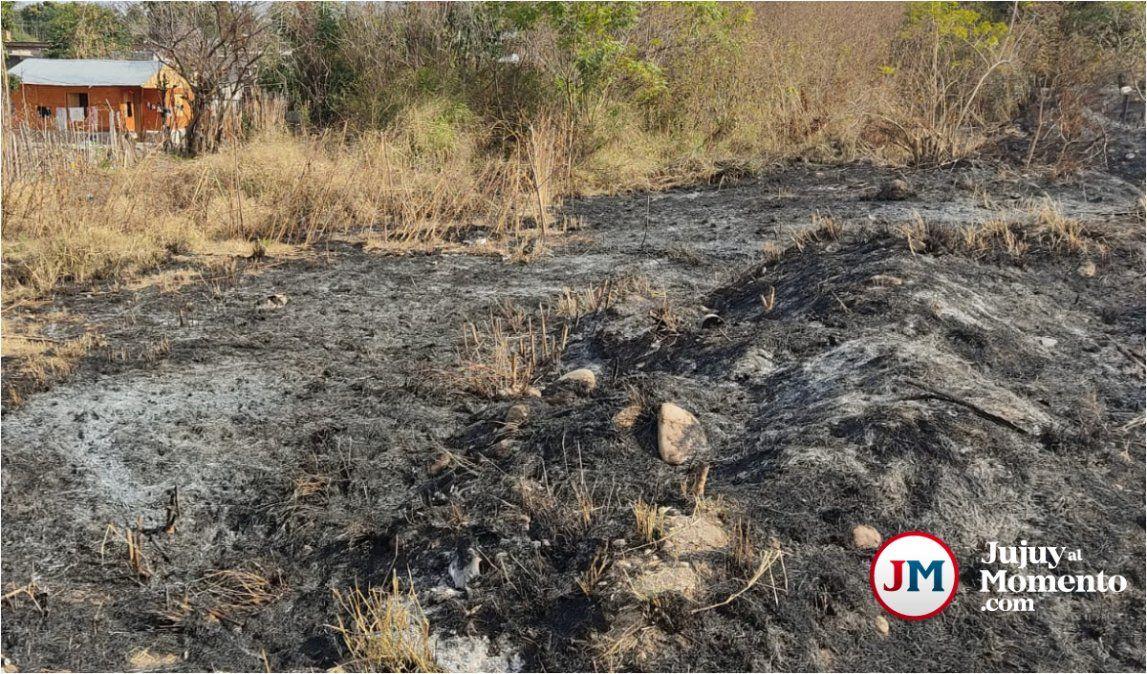 Palpalá: Una quema de pastizales casi termina en tragedia