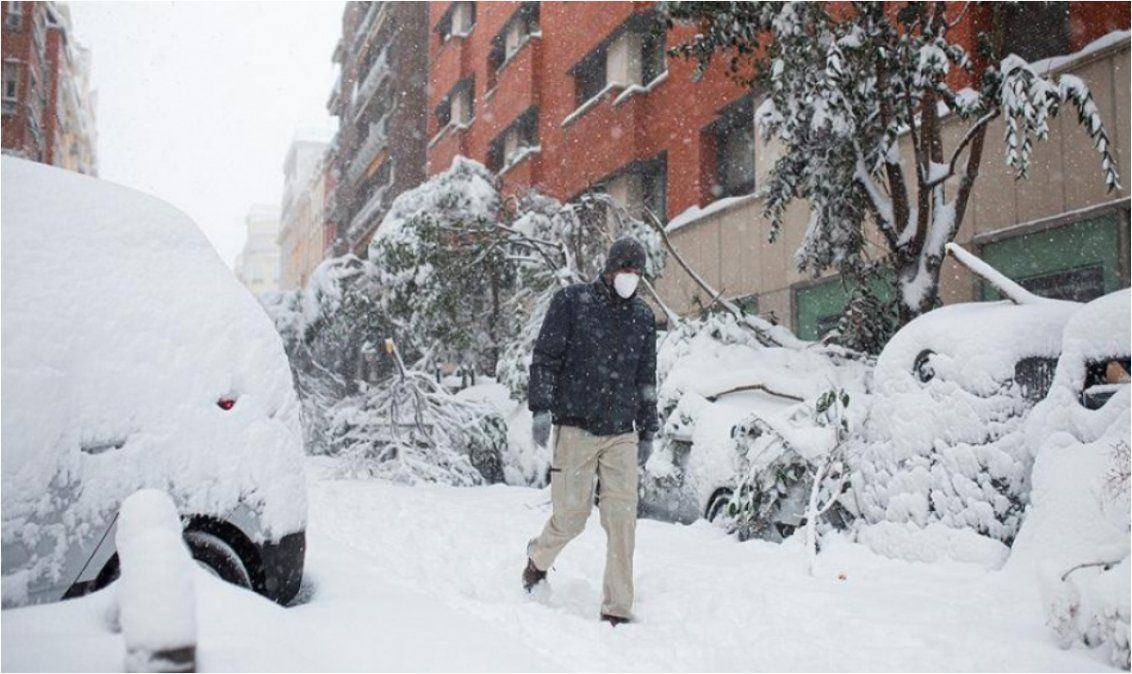 Madrid registró una histórica helada con temperatura récord de -10,8°C