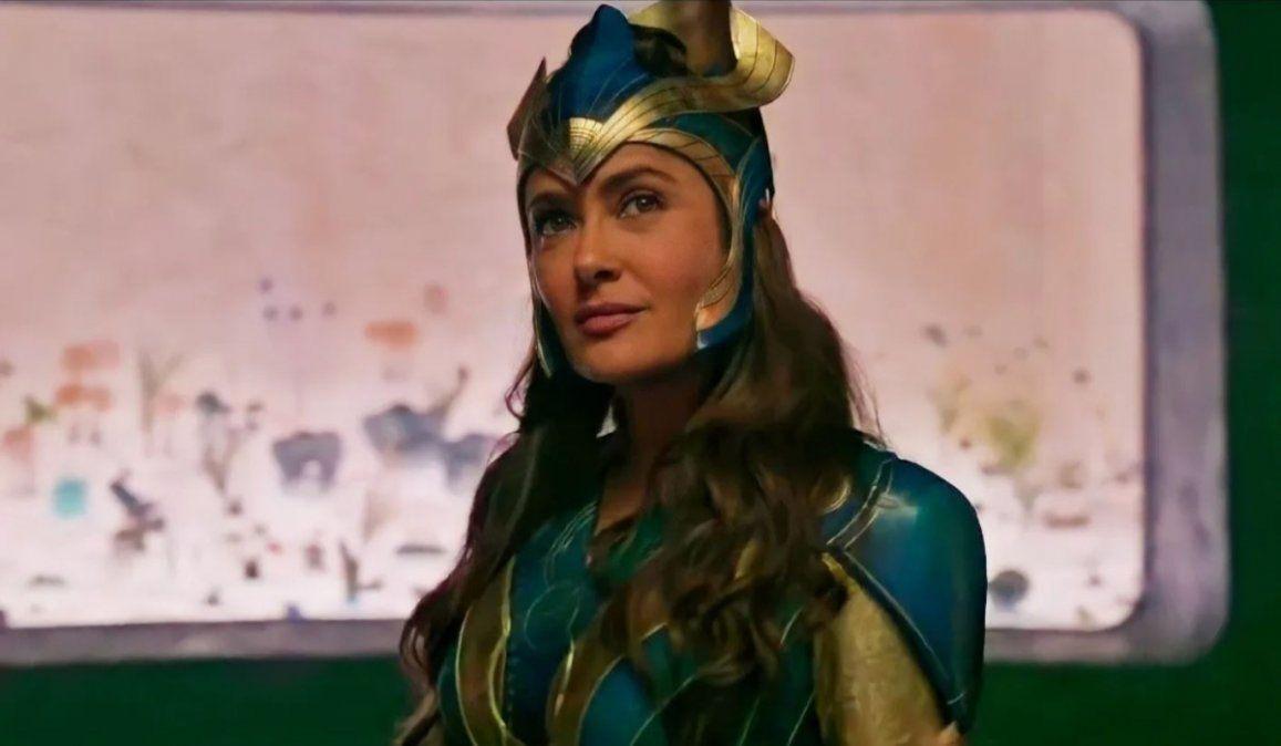 El temor de Salma Hayek durante la filmación de Eternals, lo nuevo del Marvel