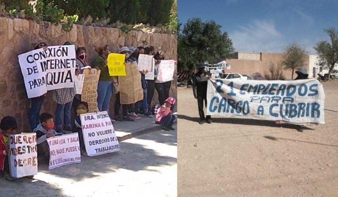 Humahuaca: huelga de hambre de municipales y posible juicio político contra la Intendenta