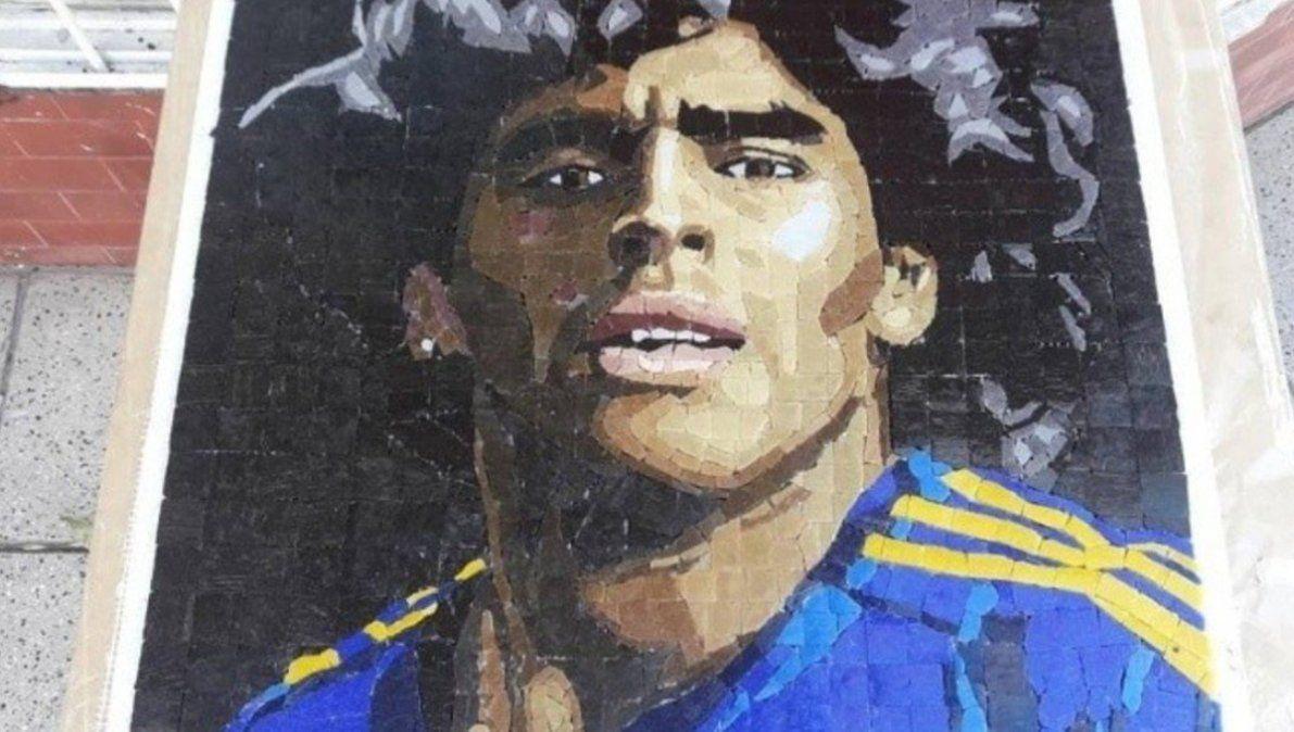 Maradona en mosaicos