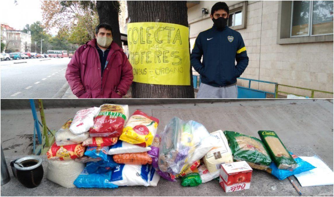 Choferes solidarios realizan una colecta por trabajadores que no cobran sus sueldos