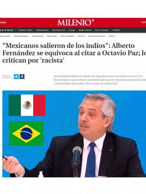 Duros cuestionamientos en Brasil y México tras una polémica frase de Alberto
