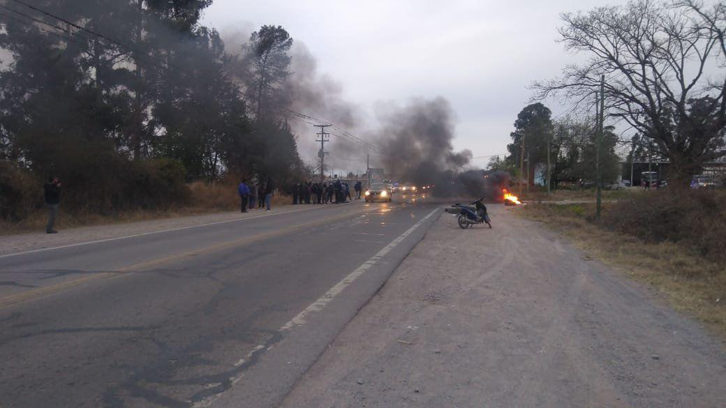 Choferes fueron reprimidos tras iniciar una protesta por sueldos atrasados