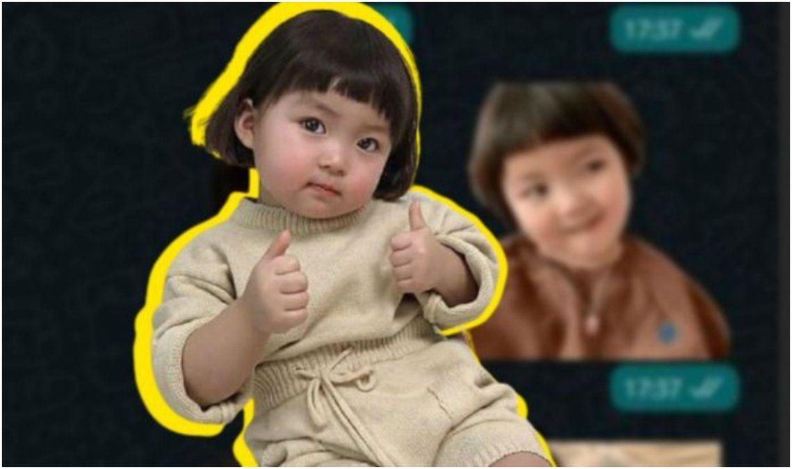 WhatsApp: por qué ya no podrás usar los stickers de la niña coreana