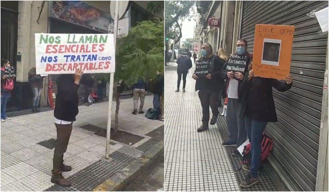 Protesta de enfermeros en Ciudad de Buenos Aires en apoyo a colegas jujeños