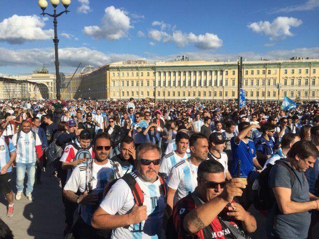 Argentinos en Rusia apoyaron a la selección