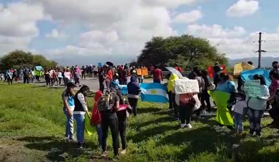 Protesta en Ruta 66 contra el laboratorio de cannabis medicinal