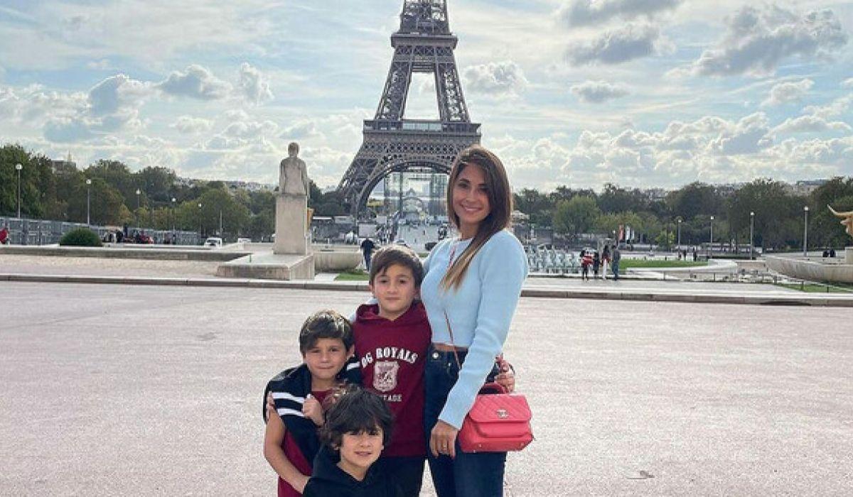 El costoso outfit de Antonela Roccuzzo para pasear por las calles de París