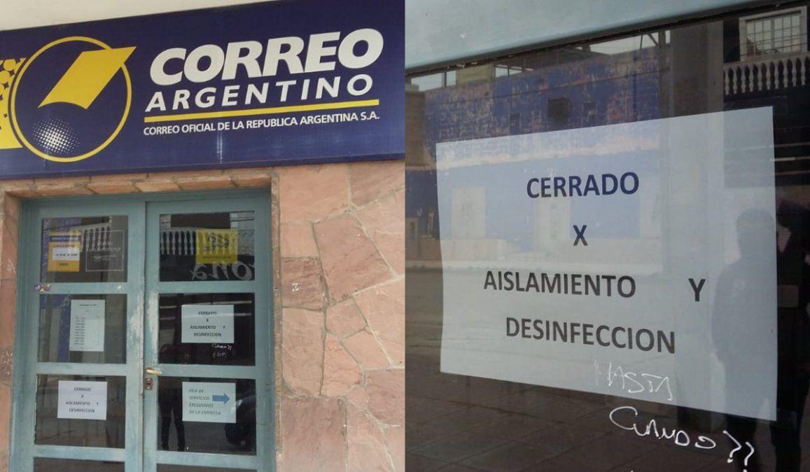 La sucursal del Correo Argentino no atiende hace más de una semana