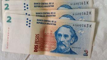 El billete de 2 pesos con la cara de Mitre se vende a 70 euros