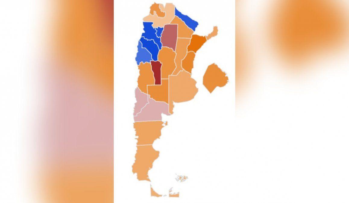 El mapa del país: el kirchnerismo pierde en 17 provincias