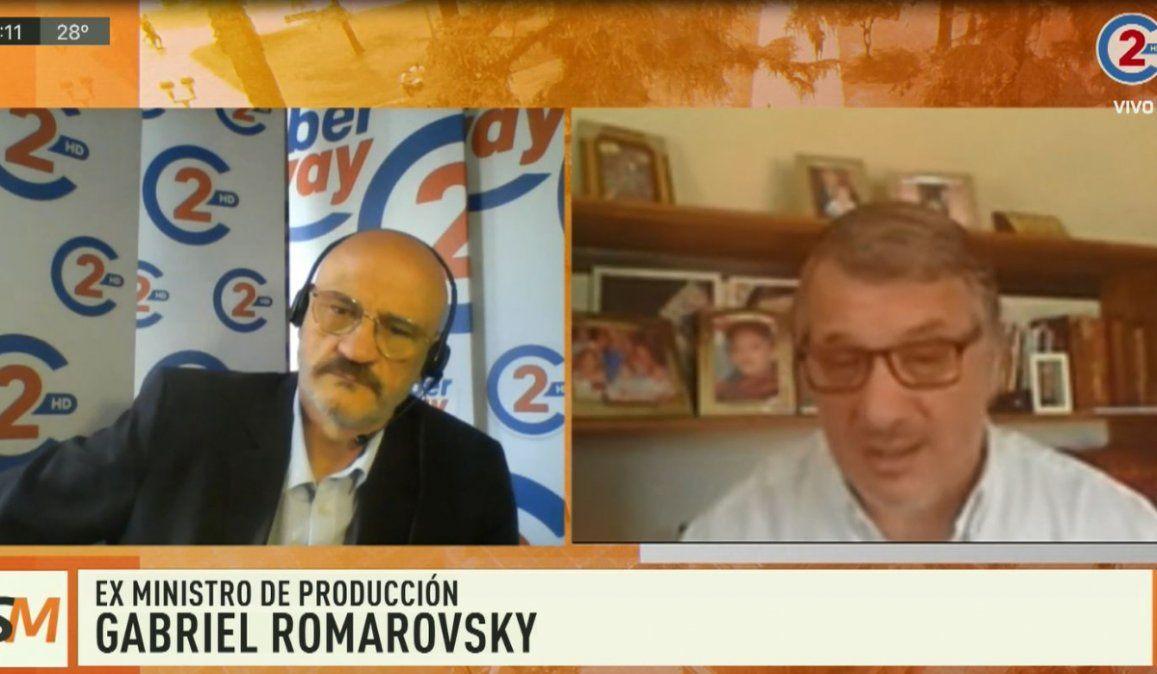 Sobremesa 11-09-20  Gabriel Romarovsky - Ex Ministro de Producción