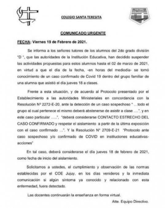 Clases post carnaval: Al menos ocho escuelas reportaron casos de coronavirus