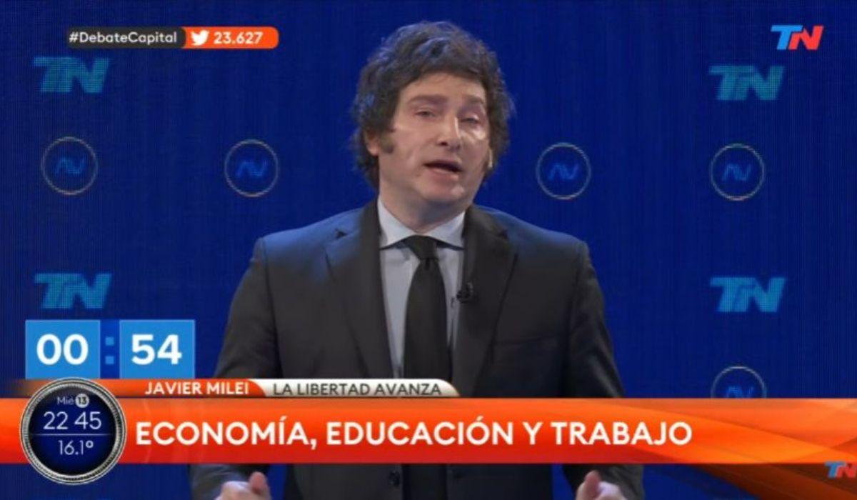 La reacción en las redes tras la floja performance de Milei en el debate