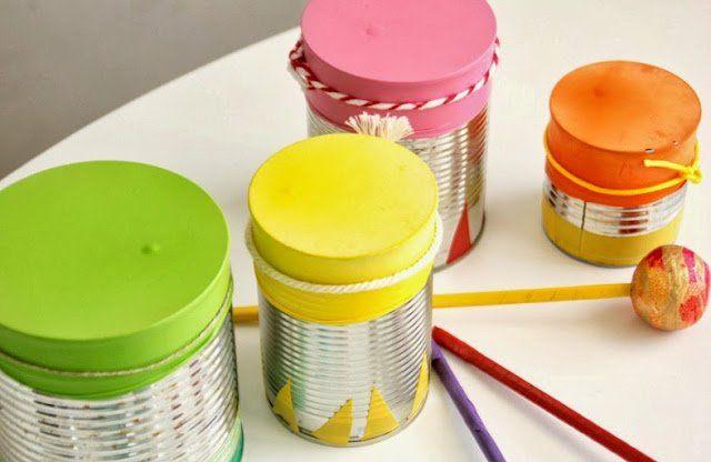 Instrumentos musicales caseros para el Día del Niño