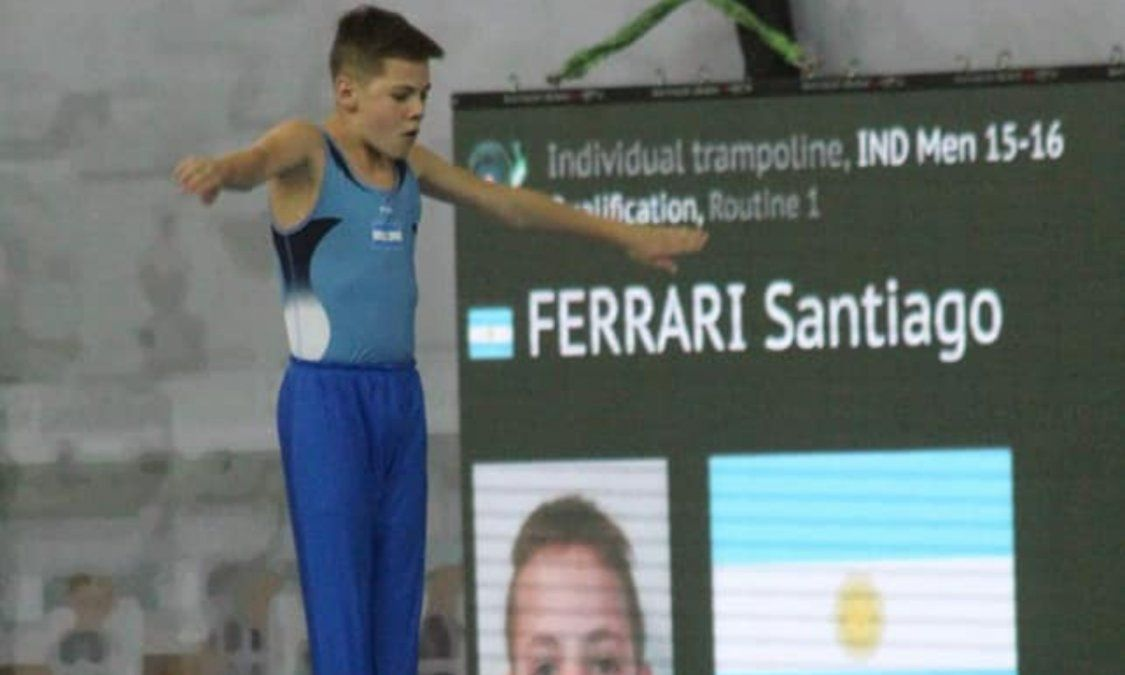 Santiago Ferrari, finalista Panamericano en Brasil