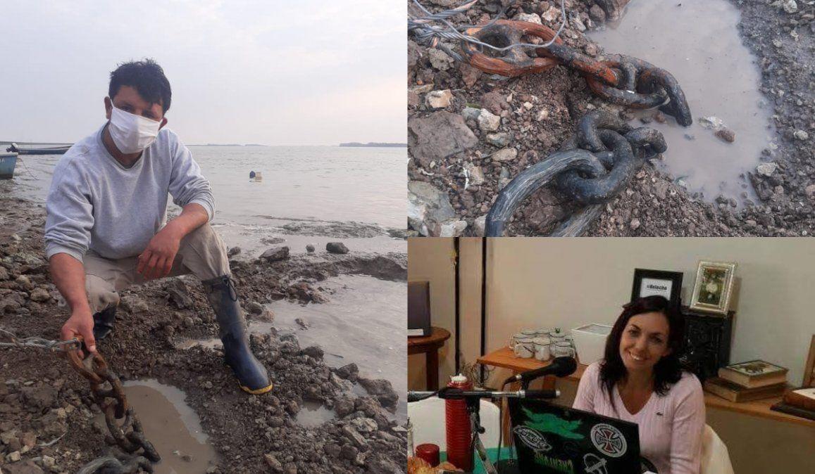 Encontraron restos de una cadena que podría haberse usado en la Batalla de Vuelta de Obligado