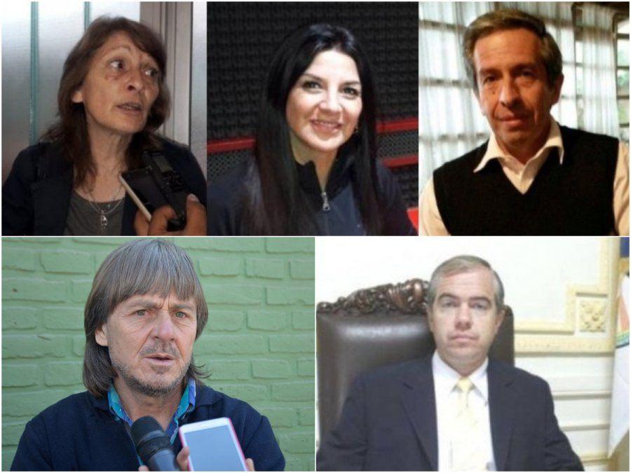 Arriba: los apuntados por Morales