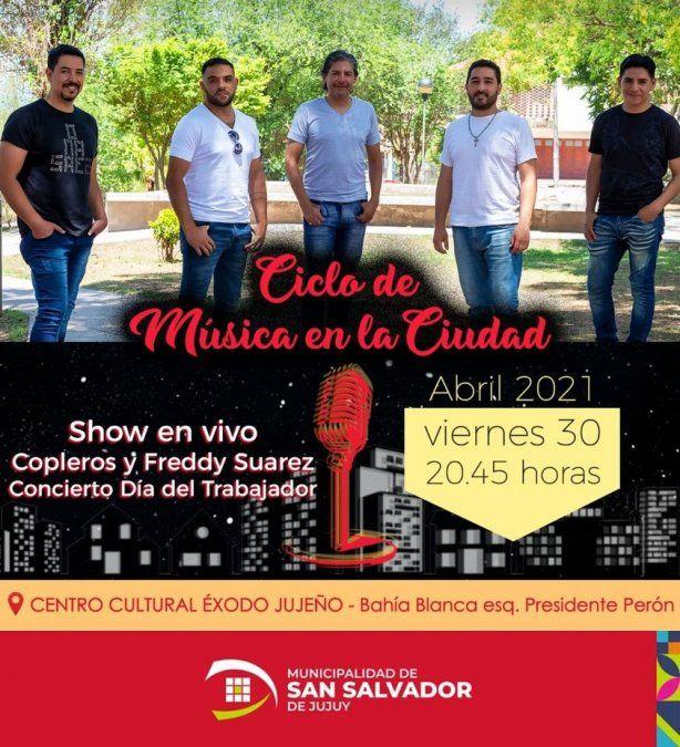 Copleros dará un concierto por el Día del Trabajador