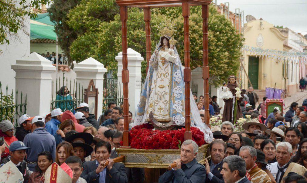 Manifestación de fe en Humahuaca por la Virgen de la Candelaria